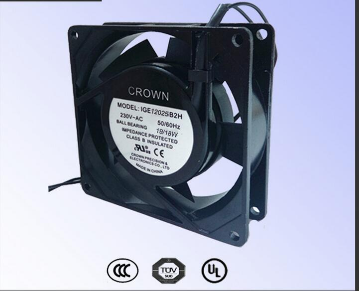 цены на Taiwan CROWN IGE8038 mini fan double ball UL certification 220V motor cooling fan в интернет-магазинах