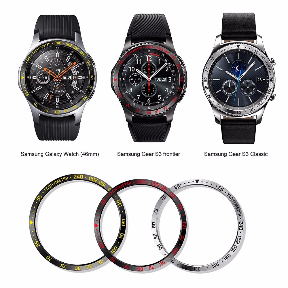 46mm Width Stainless Steel Bezel Ring For Samsung Galaxy Watch,Sport Watch Bezel Ring Protection cover Anti Ring for Gear S346mm Width Stainless Steel Bezel Ring For Samsung Galaxy Watch,Sport Watch Bezel Ring Protection cover Anti Ring for Gear S3