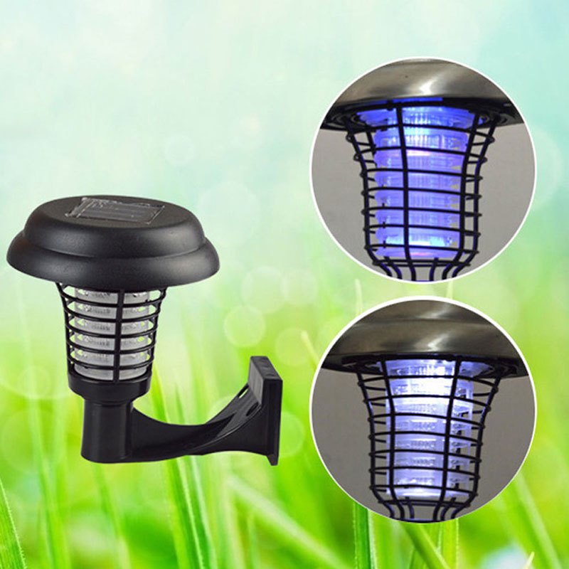 2 In 1 Outdoor Led Solar Mosquito Killer UV Champ Insect Pest Bug - Бақша өнімдері - фото 2