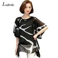XXXXXL Women Blouses 2016 Summer Loose Elegant Ruffle Chiffon Blouse Shirt Casual Women Tops Plus Size