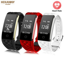 New Sport Smart Bracelet Heart Rate Monitor IP67 Fitness Bracelet Tracker Smart Wristband Bluetooth For Android IOS PK 115plus sport smart bracelet heart rate monitor ip67 fitness bracelet tracker smart wristband bluetooth for android ios pk miband 2