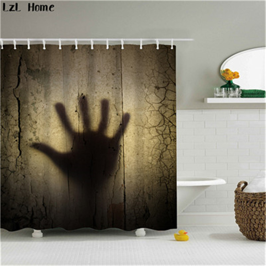 Online Shop LzL Home Horror 3d Blood Palm Print Polyester Shower Curtain  Creative Halloween Products Bath Curtains Bathroom Accessories | Aliexpress  Mobile