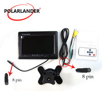 7 Inch Car Monitor for rear view Reversing back up Camera DVD VCD 2 AV input TFT LCD 800*480 Display screen
