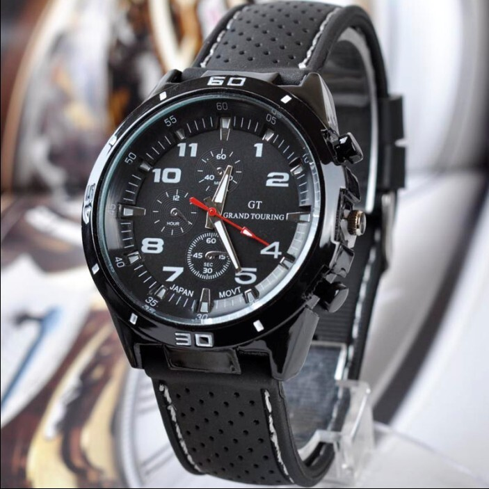 Fashion Luxury Brand Watches Men leather Band Quartz outdoor Sport Watch Chronograph Men Wrist Watches Clock Men montre femme