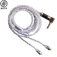 BGVP DIY 5N OCC BGVP DM5 Silver Plated Earphone Cable SE535 846 High Frequency Upgraded 8