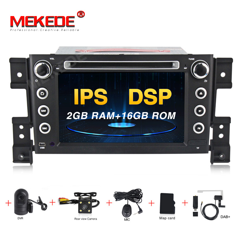 HD 2DIN DSP IPS Android 9.0 4G CAR GPS 2 DIN DVD PLAYER For SUZUKI GRAND VITARA 2007 2013 GPS RADIO STEREO SCREEN NAVIGATION