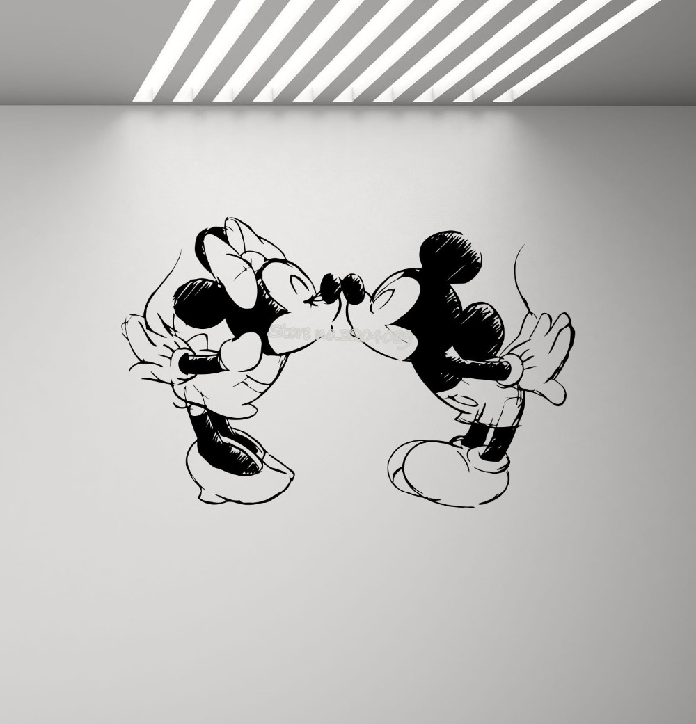 Mickey Mouse Bath Time Wall Sticker Vinyl Removable Wall Decal Home