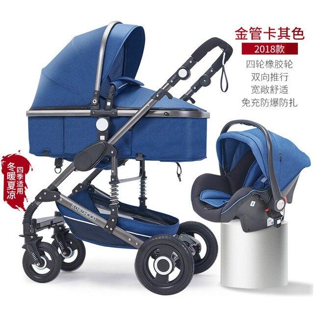 Cochecito de viaje plegable para bebé asiento de coche cómodo para bebé recién nacido cesta de dormir cuna portátil 0 ~ 3Y 3 en 1 cochecito bebé cuna