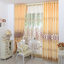Luxury Europe Embroidered Window Curtains For living Room Bedroom Blackout Tulle Pastoral Home Decor