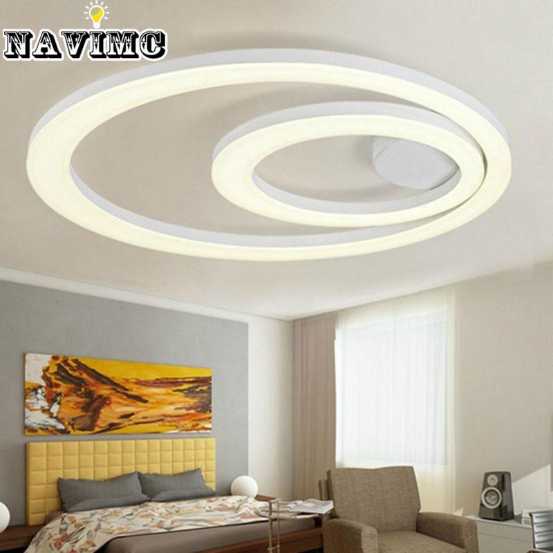 White acrylic led ceiling light fixture flush mount lamp - White lights for room ...
