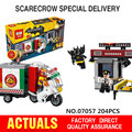 Nueva Lepin 07057 Genuino Serie de Películas de Batman El Espantapájaros de Entrega de Pizza Set de Vagones 70910 Bloques de Construcción Ladrillos de Juguetes Educativos