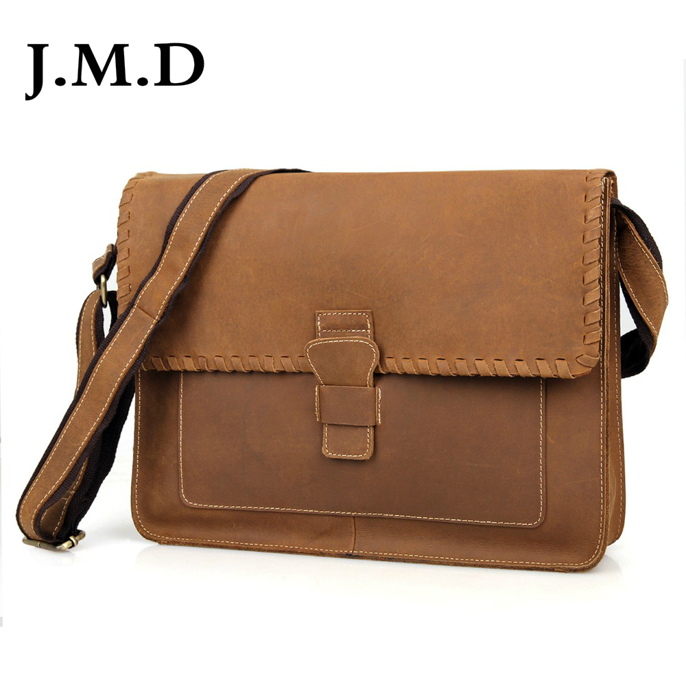 J.M.D Crazy Horse Leather Envelope Sling Bag Women Vintage