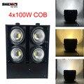 DMX Dimmering 4x100 W COB Блиндер Свет COB Led Лампы 4 Глаза холодный Белый/Теплый Белый DMX Мыть Свет 400 Вт 3 Видов Вы Можете выбрать