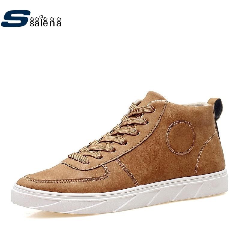 Prix pour Hommes Planche À Roulettes Chaussures Doux Chaussures Classique Hommes Sneakers Plate-Forme Marque Mâle High Top Chaussures AA10317