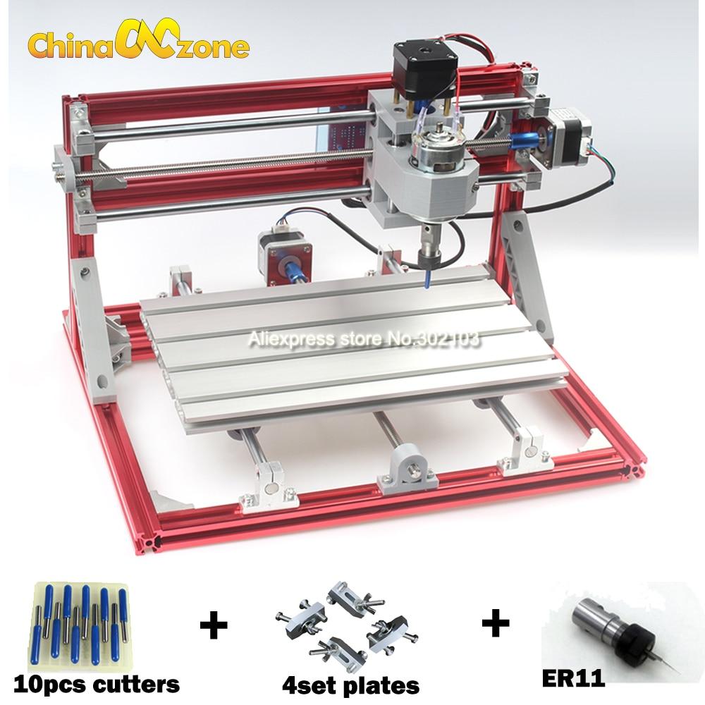 CNC 3018 CNC Engraving Machine ER11 Diy Mini 3Axis ,Laser Engraving Machine,Pcb PVC Milling Machine,Wood Router,Best Advanced cnc router mini engraving machine diy mini 4axis wood router pcb milling machine