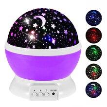 Novelty Luminous Toys Rotating Stars Starry Sky LED Night Light Projector Battery USB Night Light Glowing Toys For Children 2018