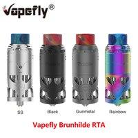 Newest E cigarette Vapefly Brunhilde Top Coiler RTA 8ml/2ml with SS Hollow Construction & Dual Coil Building Vape Tank