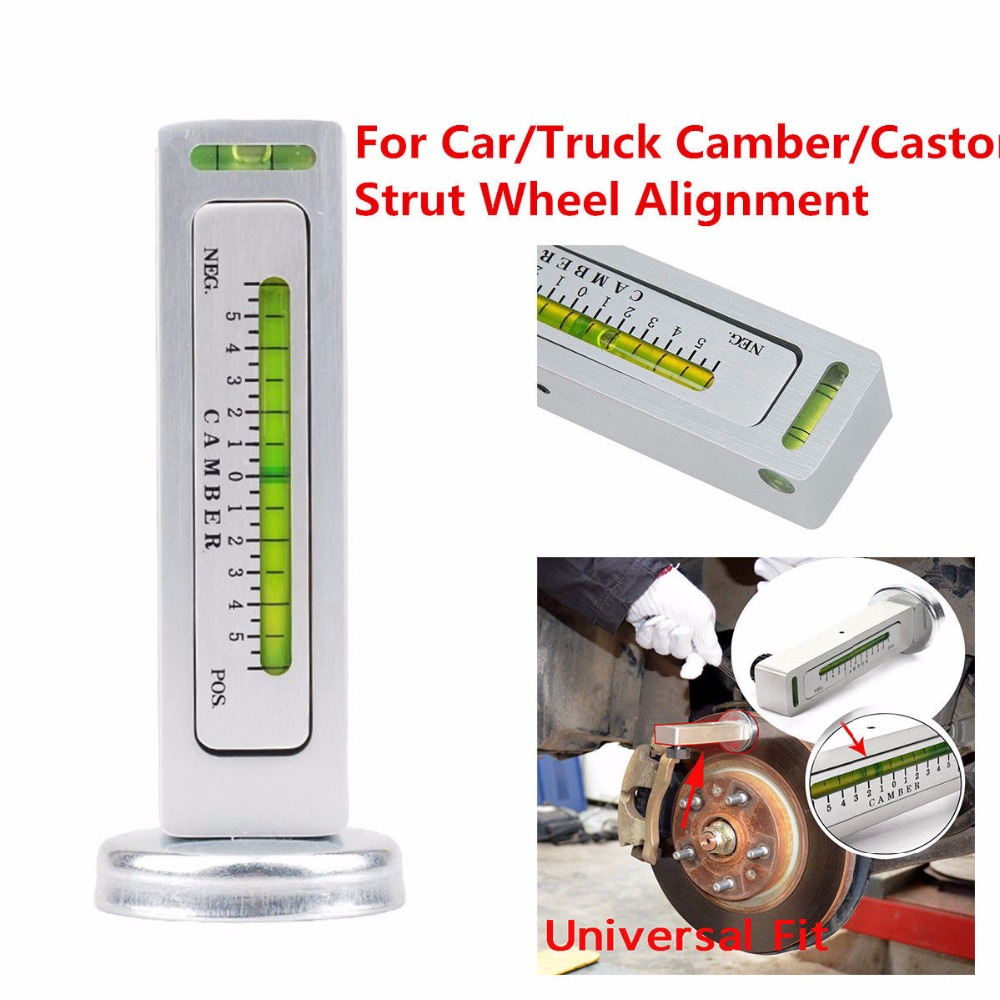 Triclicks Universal DIY Magnetic Gauge Tool Car Truck Camber Castor Strut Wheel Alignment Tools Magnetic Gauge Measure Tool New