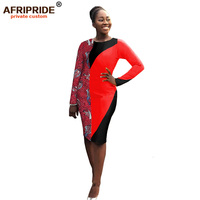 2019 african print dresses for women african dashiki fabric long sleeve dress bazin riche nigerian plus size AFRIPRIDE A1925021