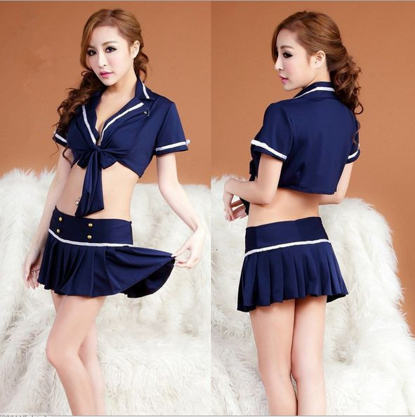 Buy Sell well COSPLAY flight attendant/Policewoman costumes Sexy lingerie women costumes Sex Products toy Sexy underwear Role play