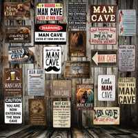 [Mike86] homme grotte règle entrer à vos propres risques métal étain signe maison Bar hôtel mur peinture Plaque partie Bar Public décor FG-258
