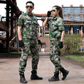 Military Combat T-Shirt Summer Camouflage Suits Army Short Sleeved Uniforms Training  Working Military Tactical Ropa Caza Sets