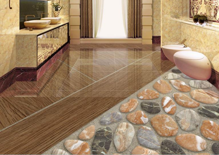 3d flooring living room wallpaper Custom 3d photo wallpaper Natural stone pebbles 3d floor painting self adhesive wallpaper free shipping marble texture parquet flooring 3d floor home decoration self adhesive mural baby room bedroom wallpaper mural