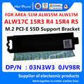 MAD smok marka M.2 PCI-E SSD wsparcie uchwyt Adapter radiator dla ALIENWARE AREA-51M ALW15M ALW17M M15 M17 03N3W3 3N3W3 0JV98R