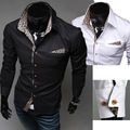 Camisas Time-limited Solid Full Shirts 2014 Pure Ong Sleeve Dress Designer New Men's Casual Long-sleeved Shirt Fashion Shipping