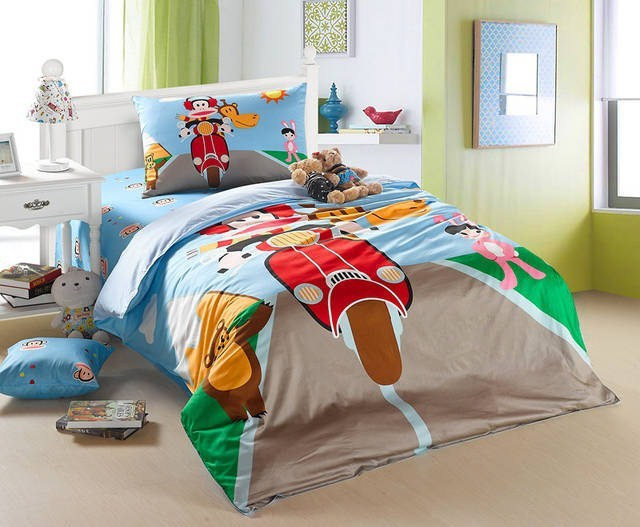 boy bedding sets kids bed motorcycle bedding set