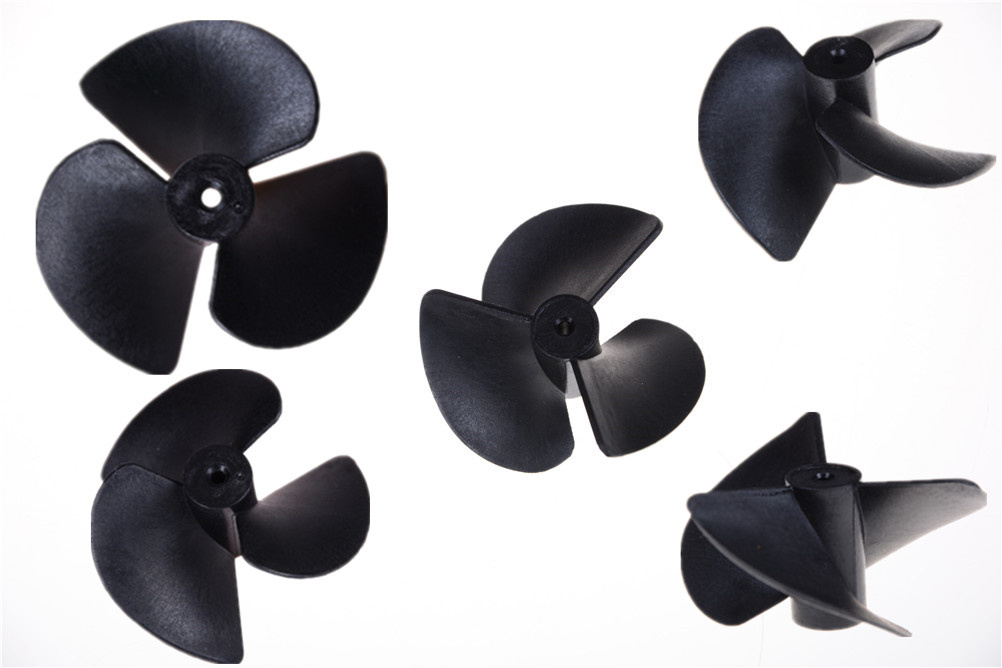1pcs 1.9mm(tight With 2mm shaft) 3-blades Propellers Nylon Paddle For RC Boat Positive & Reverse D 40mm RC Parts image