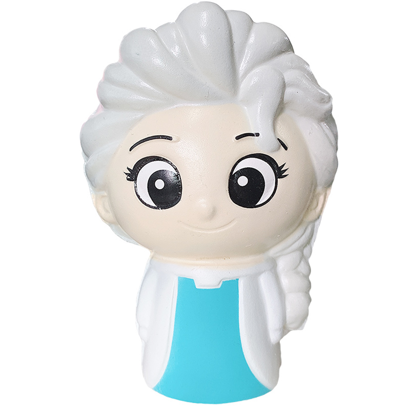 Jumbo Kawaii Snow Princess Squishy Slow Rising Cartoon Doll Sweet Scented Bread Soft Squeeze Toys Fun Xmas Gift Toy For Children