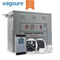 7.5KW 380 В 3PH металл влажные Паровая сауна спа комнаты генератор душевой кабины аксессуары Температура Сенсор контроллер