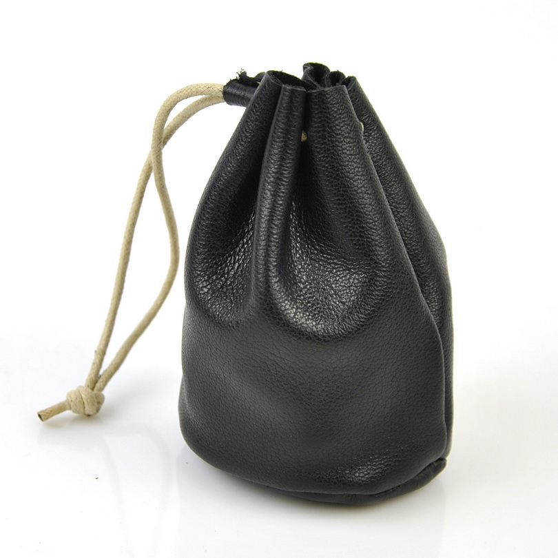 Women Genuine Real Leather Coin Bag Vintage Retro Draw String Wallet Bucket Lady Purse Organizer Fashion Change Money Bags Pouch