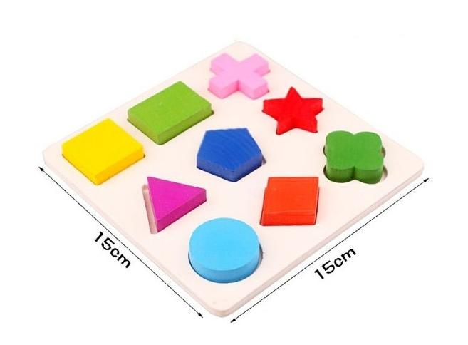 Free shipping Learning Education Montessori Wooden Math Toys Puzzle Toys For Children Educational Equipment Resources Geometry in Model Building Kits from Toys Hobbies