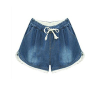 To Youth Fashion Women S Jeans Summer Embroidery Pattern High Waist Stretch Denim Shorts Loose Casual