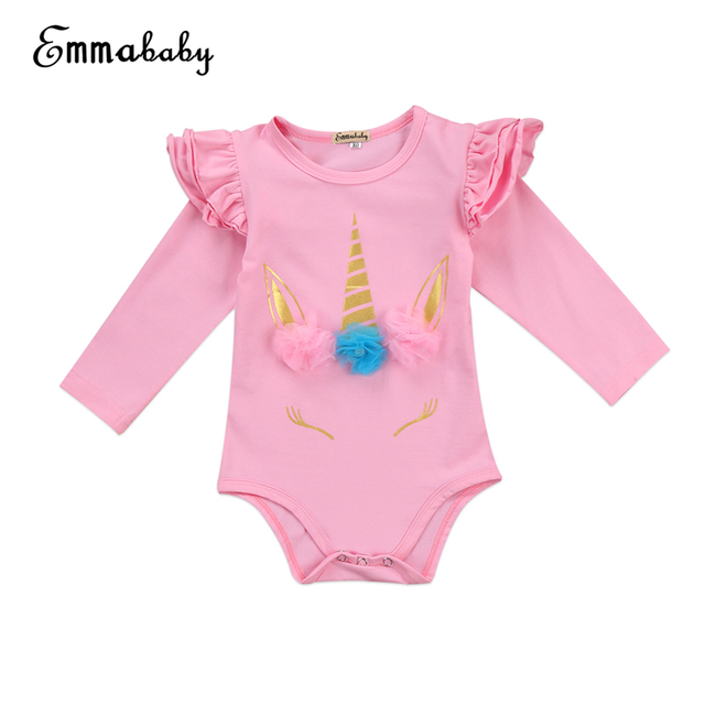 6b444145dc9f New Year s Costumes For Girls Cute Baby Girl Unicorn Romper Floral ...
