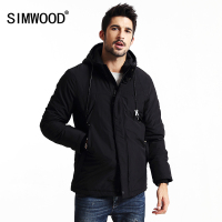 SIMWOOD 2016 New Winter Coats Men Thick Casual Black Parkas Fashion Brand Clothing Slim Fit Zipper