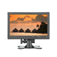 10.1 inch CCTV Monitor 1280 x 800 IPS LCD Monitor with HDMI VGA AV Port for CCTV Camera Car Backup