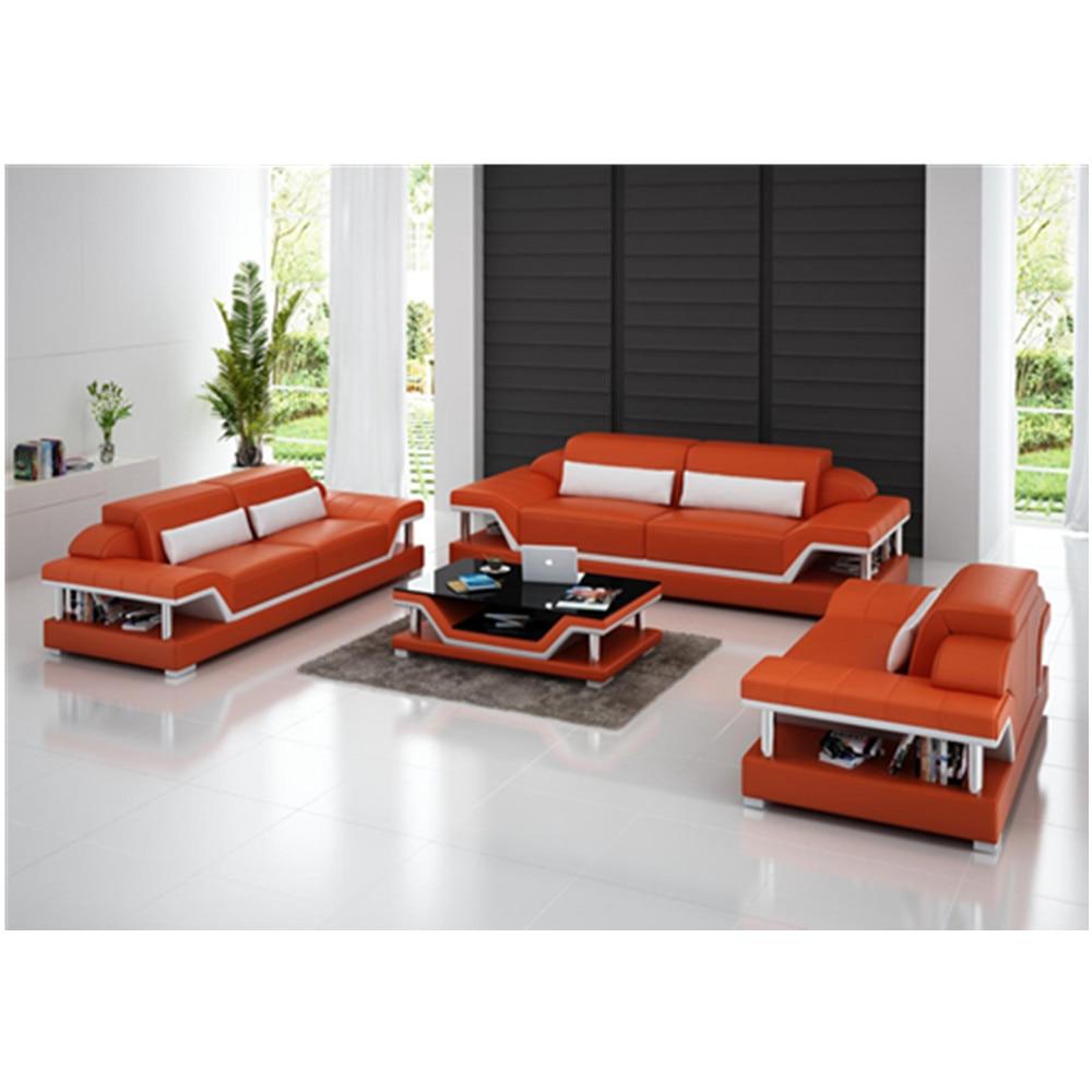 3 Seater Sofas Genuine Leather Sofa Set