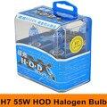 Новый 2x H7 12 В 55 Вт HOD Ксенон-Галогеновой лампой Фара Высота Супер яркий Белый 6000 К Авто Шарика Фары Противотуманные фары Бесплатная Доставка