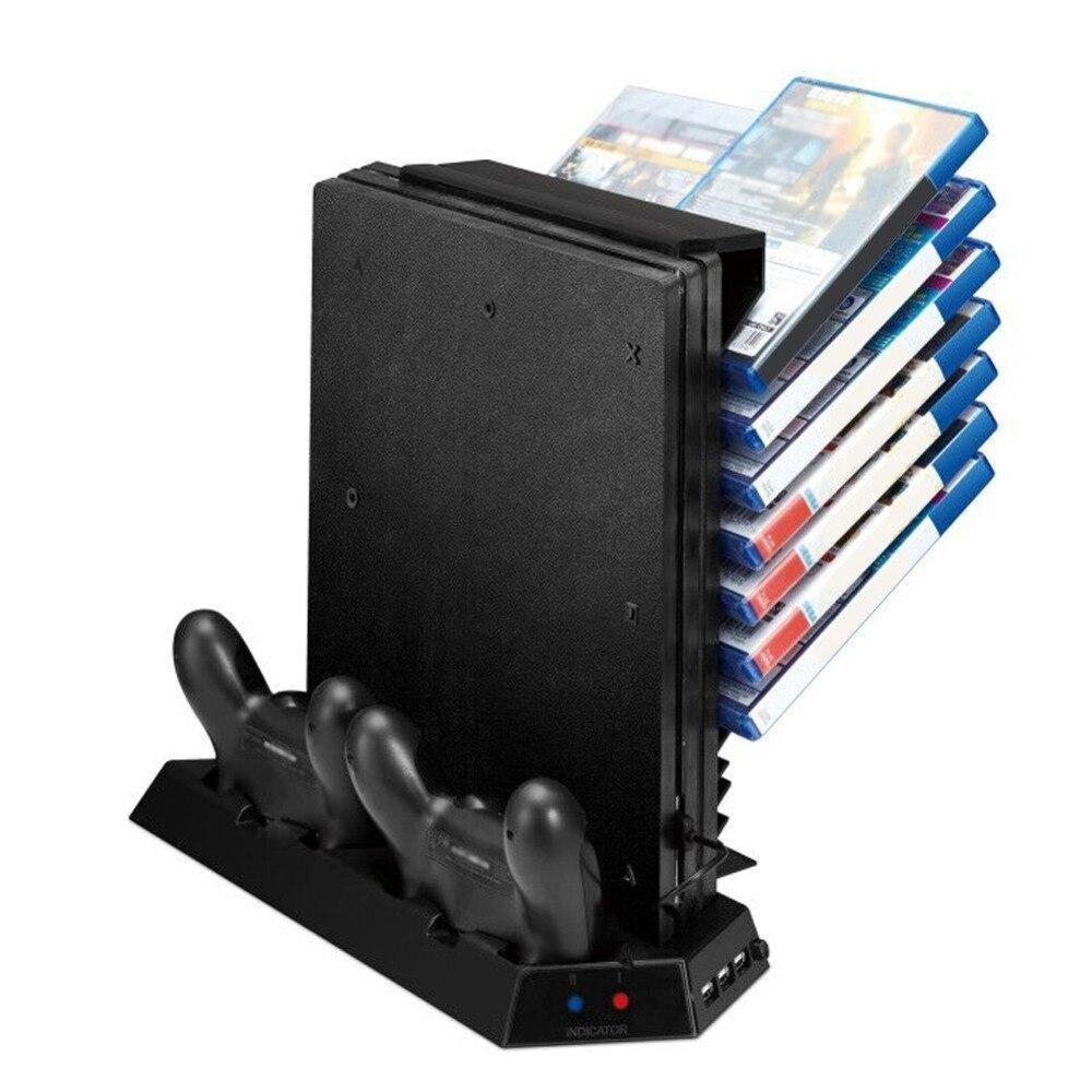Enfriador de ventilador de enfriamiento vertical Stand PS4 Pro para - Juegos y accesorios