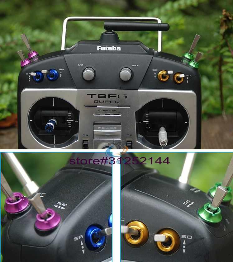 13 шт./компл. переключатель с радиоуправлением цветная гайка для Futaba JR FrSky taranis X9D радио управление передатчик звезда мощность