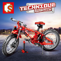 Technology machinery series 703302 double variant mountain bike building blocks toys for children action figure weapon
