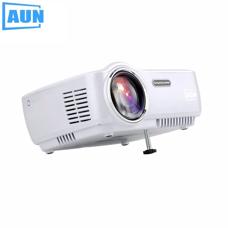 New mini projector android 4 4 wifi bluetooth 4 0 hd led multimedia projectors 1600lumens home for Small bluetooth projector