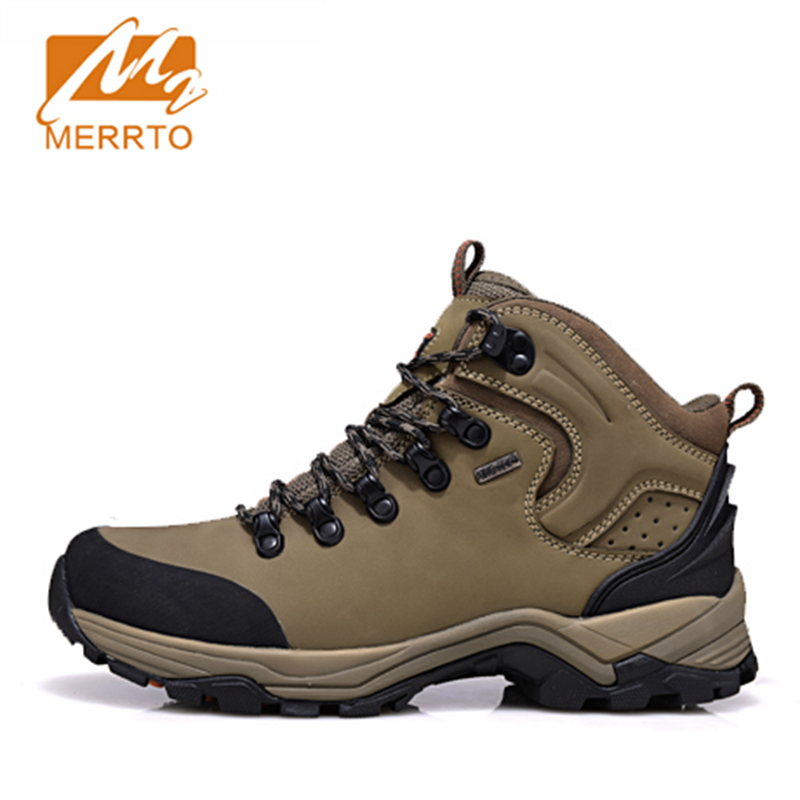 2017 Merrto Men Outdoor Hiking Boots Waterproof Breathable Sport Shoes Camping Boot Color Black Khaki Grey Free Shipping MT18638 2017 mens hiking shoes breathable rock climbing camping outdoor sports shoes for men army green black free shipping c101