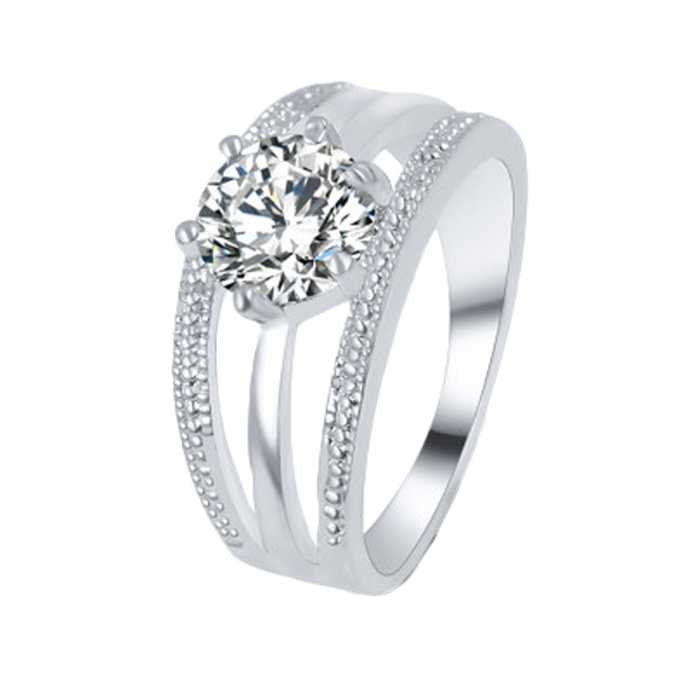 1pc Women Classic Romantic Engagement Multilayer Six Claw Wedding Rings  Nice Gift For Women(china
