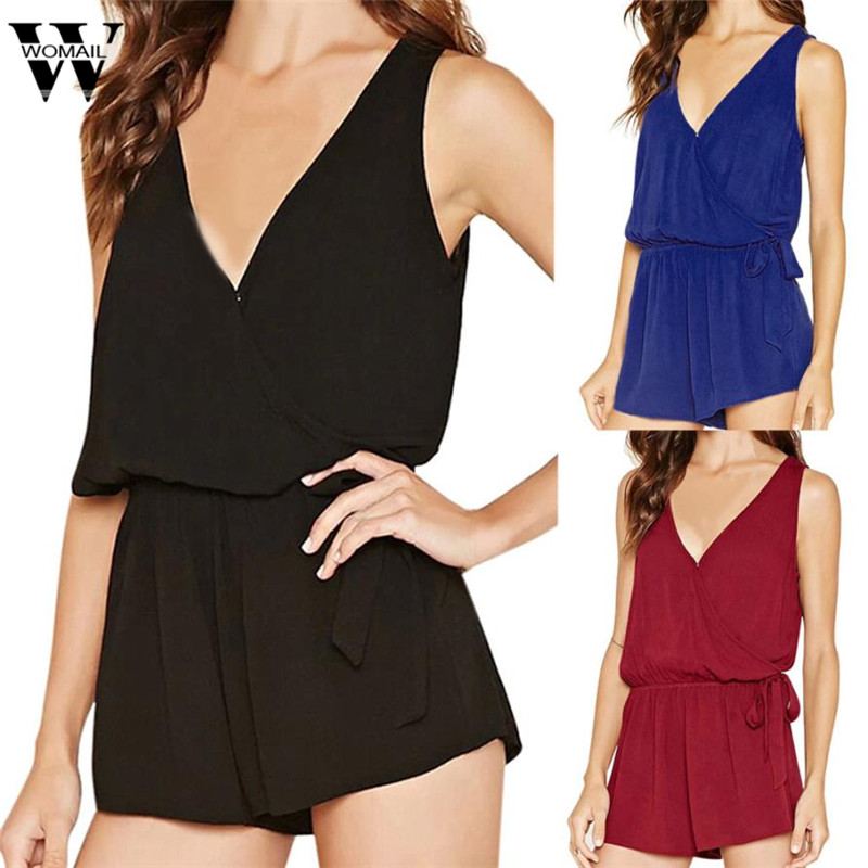 rompers womens short jumpsuit Summer Sexy jumpsuit V-Neck Rompers Jumpsuit Playsuit sexy jumpsuit dropship x3054