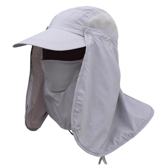 9fdae57f Chic Outdoor Sun Shield Neck Face Mask Mesh Hat Visor Sunbonnet-in ...