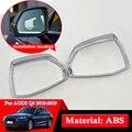 Автомобильный Стайлинг Зеркало заднего вида блесток для Audi Q5 Q5L 2018 2019 накладка на зеркало заднего вида автомобиля ABS хромированная внешняя д...